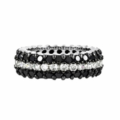 Sally's Black & White CZ Eternity Ring