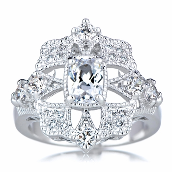 Scarlett's Art Deco CZ Engagement Ring