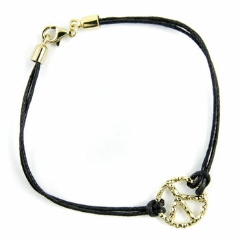 Shae's Peace Sign Bracelet- Small Round