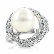 Shaina's Imitation Pearl Cocktail Ring