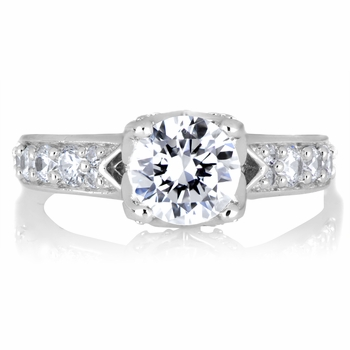 Shantae's Engagement Ring - 1 CT Butterfly Set CZ