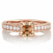 Shayla's 1.24ct Rose Goldtone and Peach CZ Engagement Ring