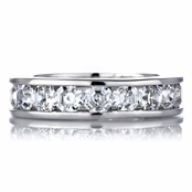 Sheena's Asscher Cut Channel Setting Ring