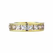 Sheena's Asscher Cut Goldtone Channel Setting Ring