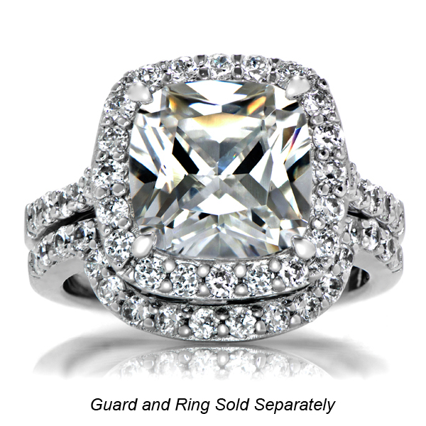 Cushion Cut CZ Halo Engagement ring 10mm