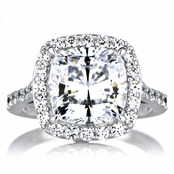 Sheera's Cushion Cut CZ Halo Engagement ring - 10mm