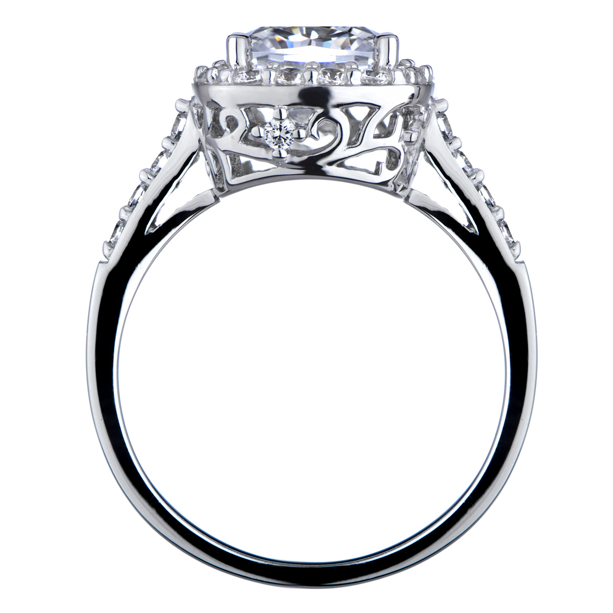 Sheera s Cushion Cut CZ Halo Engagement ring 8mm
