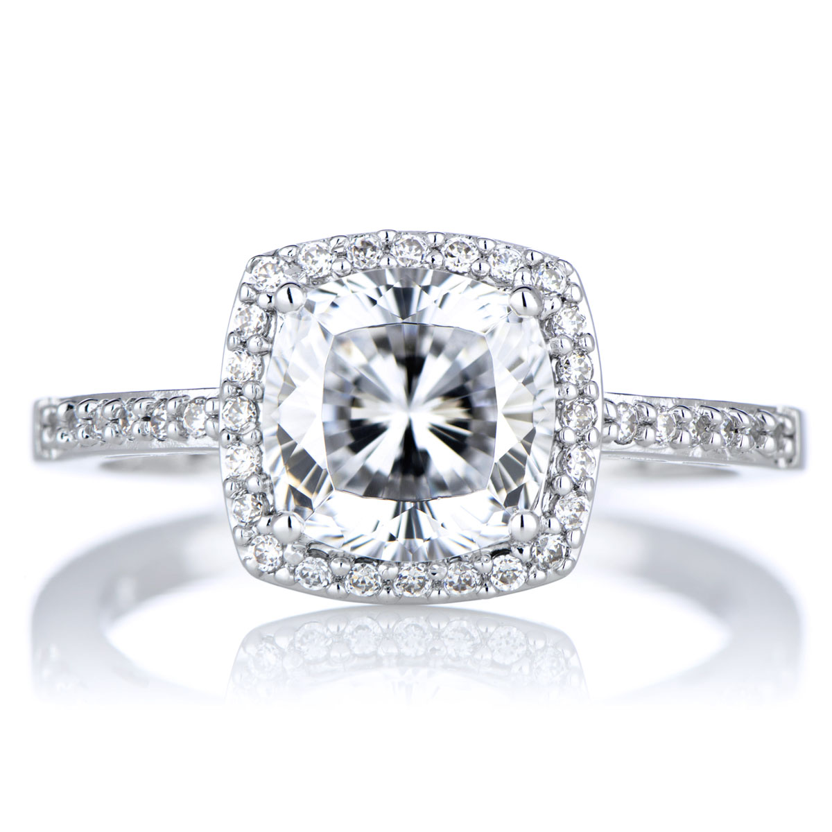 sheryls 25 ct cushion cut cz engagement ring - Cz Wedding Rings