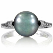 Sidra's Imitation Pearl Ring - Gray