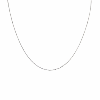 "Silvertone Necklace Chain- 20"" (1mm)"