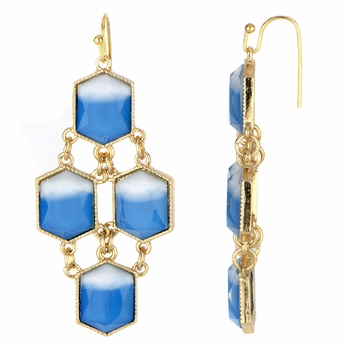 Skyler's Blue Stone Bohemian Dangle Earrings