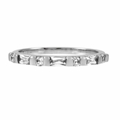 Slim Stackable CZ Ring