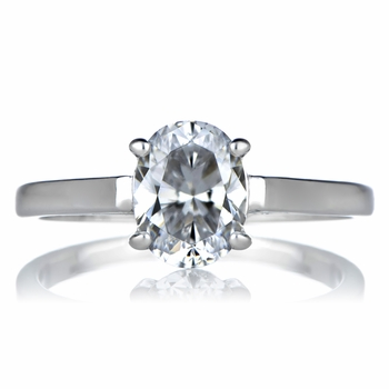 Sonia's Signity CZ Engagement Ring - 1 CT Oval Cut