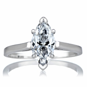 Sonia's Signity CZ Engagement Ring - Marquise Cut
