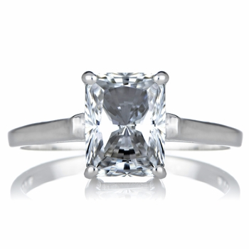 Sonia's Signity CZ Engagement Ring - Radiant Emerald Cut Shape