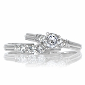 Soo-Yun's Petite CZ Wedding Ring Set