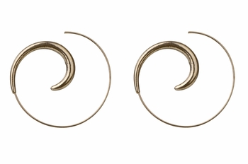 Sybill's Gold Swirl Hoop Earrings