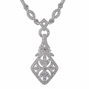 Tamara's Fancy Art Deco Cubic Zirconia Necklace