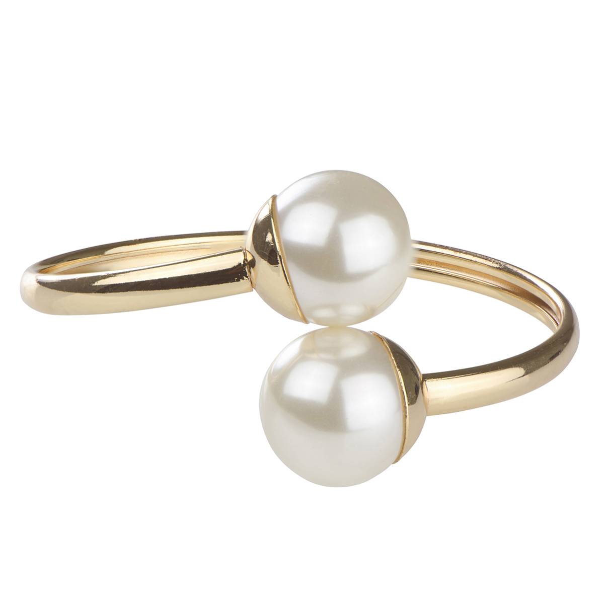 Tasi's Gold And Simulated Pearl Bangle Bracelet Roll Off Image To Close  Zoom Window