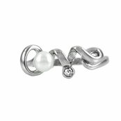 Love Ring with Imitation Pearl