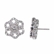 Thora's CZ Flower Stud Earrings