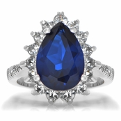 Tori's Blue CZ Cocktail Ring