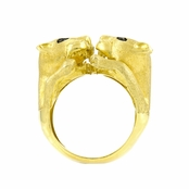 Traci's Wildcat Cocktail Ring - Goldtone