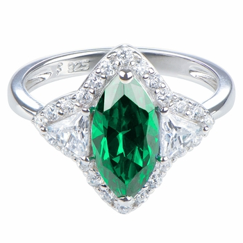 Tracy's Marquise Cut Emerald Cubic Zirconia Ring