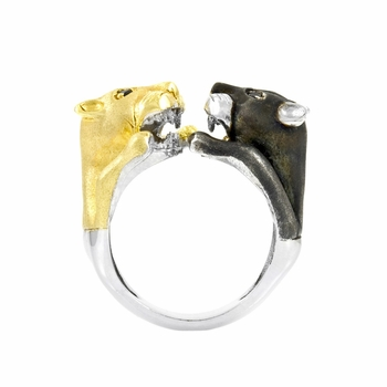 Two Tone Wildcat Ring