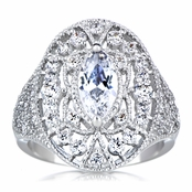 Vera's Art Deco Marquise CZ Cocktail Ring