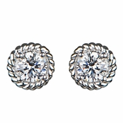 Vivian's Designer Inspired 1 Carat Twisted Stud Earrings