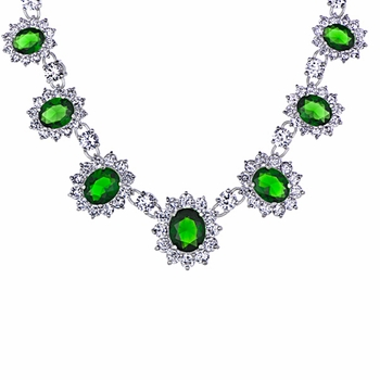 Wedding Jewelry: Irelyn's Fancy Green CZ Necklace