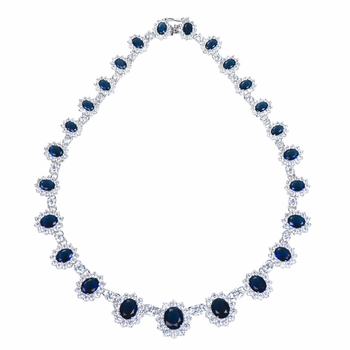 Wedding Jewelry: Irelyn's Fancy Blue CZ Necklace