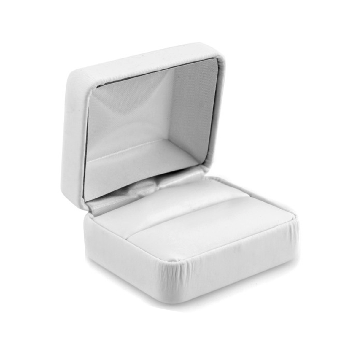 Wedding Ring Set Jewelry Gift Box Modern Collection White