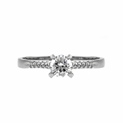 Whitley's Petite CZ Engagement Ring - .5 CT