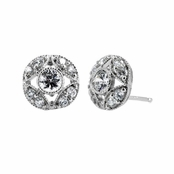 Whittier's CZ Art Deco Earrings