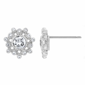 Wray's CZ Snowflake Stud Earrings