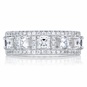 Yolande's Princess Cut CZ Anniversary Ring