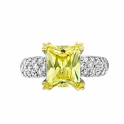 Zandra's 4 CT Canary CZ Ring
