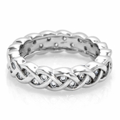 Zara's Braided CZ Eternity Ring