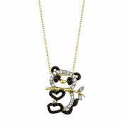 Zhen Zhen's 18in Goldtone CZ Panda Necklace