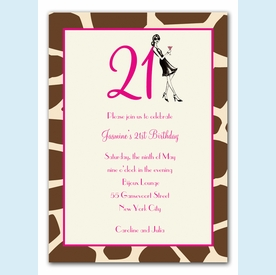 21st Birthday Soiree Invitation - click to enlarge
