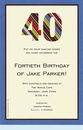40 Stripes Invitation
