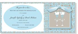 Alfresco Blue Bubbly Invitation