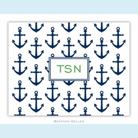 Anchors Navy Folded Notes (set/25) - click to enlarge