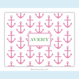 Anchors Pink Folded Notes (set/25) - click to enlarge