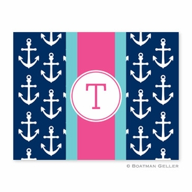 Anchors Ribbon in Navy Folded Notes (set/25) - click to enlarge