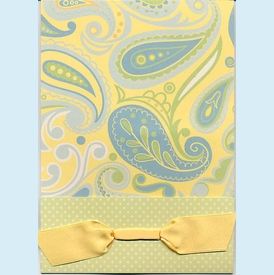 Anna Lulu Blue Paisley Invitation - click to enlarge