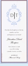 Antique Blue Frame Invitation