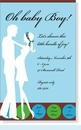 Baby Couple Blue Invitation